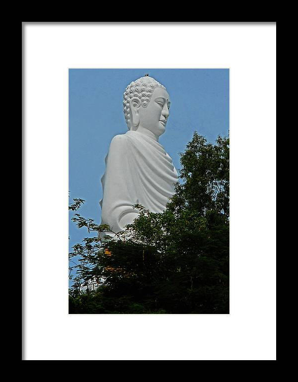 Phu My Framed Print featuring the photograph Big Buddha 5 by Ron Kandt