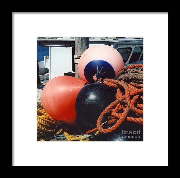 Buoys Framed Print featuring the photograph Big Buoys by Andrea Simon