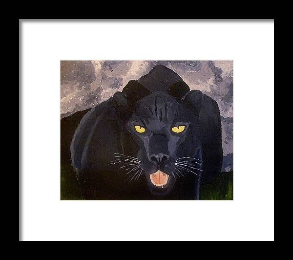 Panther Framed Print featuring the painting Big Cat IIi by Mats Eriksson
