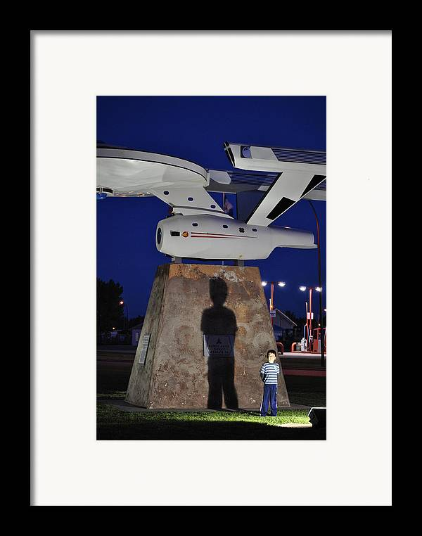 Space Ship Framed Print featuring the photograph Big Enough by Evelina Popilian