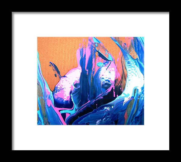 Fantasy Plants Framed Print featuring the painting Big Fish Hanging Out In Fantasy Undersea Garden by Bruce Combs - REACH BEYOND