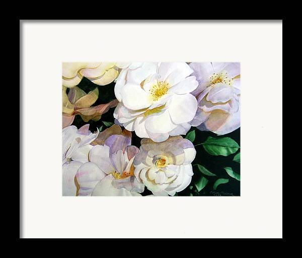 Floral Roses Framed Print featuring the painting Big Floral by Patrick McClintock
