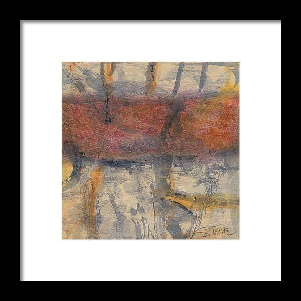 Abstract Painting Framed Print featuring the painting Big History - Number Two by Sally Tuttle