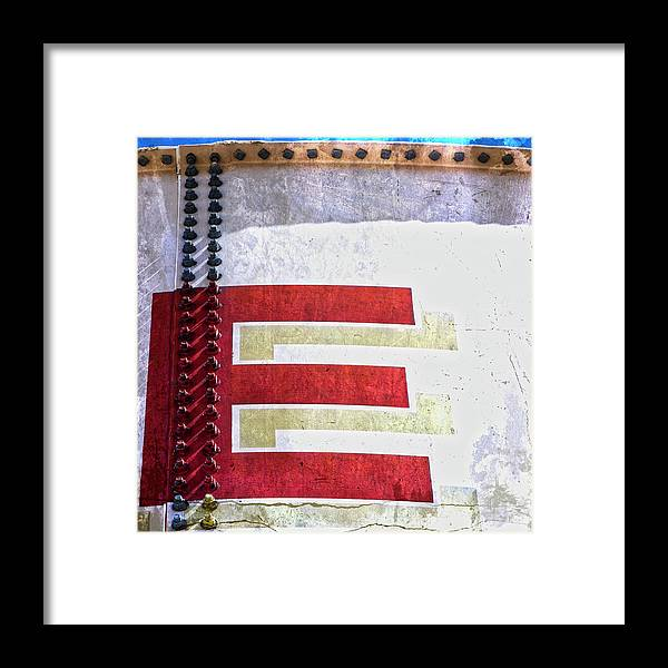 Letter Framed Print featuring the photograph Big Letter E by Carol Leigh