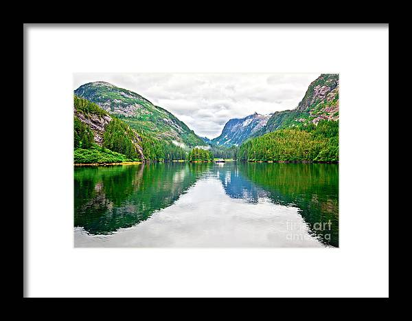 Patterson Bay Framed Print featuring the photograph Big Mountain Reflections In Patterson Bay Alaska by Christy Woodrow