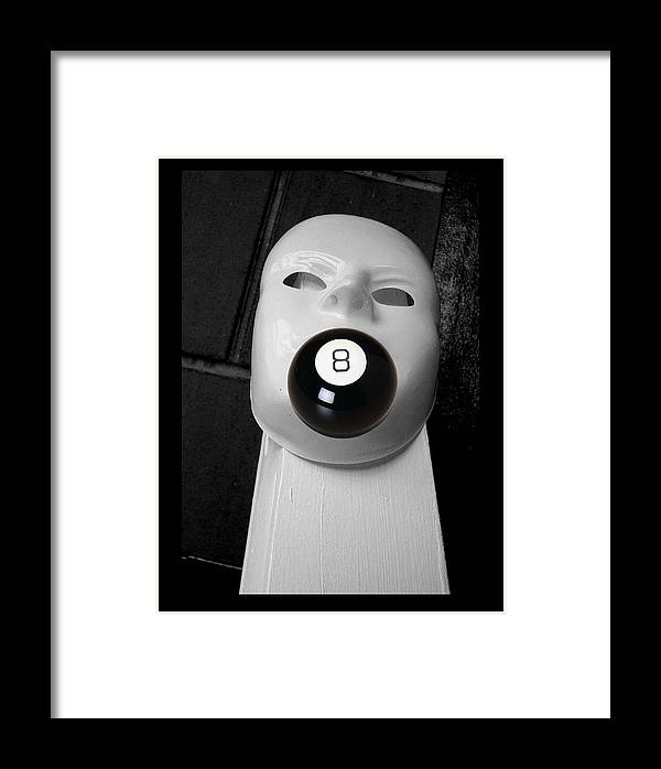 Eight Ball Framed Print featuring the photograph Big Mouth by Darryl Kravitz