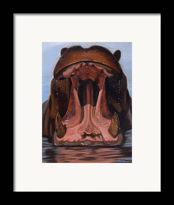 Painting Framed Print featuring the painting Big Mouth by Greg Neal