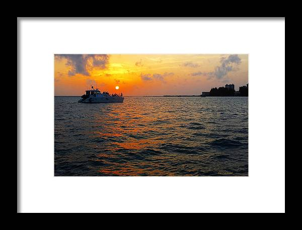Sarasota Florida Framed Print featuring the photograph Big Pass Sunset Sarasota Florida by Barbara Chichester