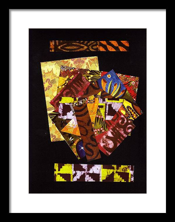 Abstract Framed Print featuring the mixed media Big Pieces Bigger Dreams by Bee Jay