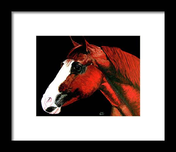Original Oil On Canvas Framed Print featuring the painting Big Red by Stan Hamilton
