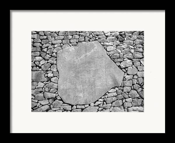 Machu Picchu Framed Print featuring the photograph Big Rock by Marcus Best