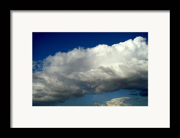 Rainbow Framed Print featuring the photograph Big Sky Little Rainbow by Ana Villaronga