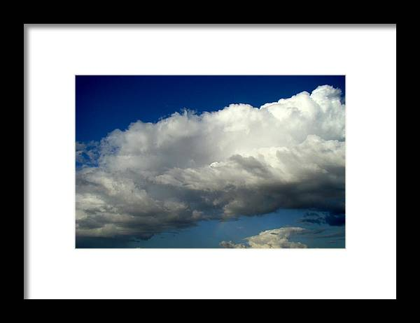Rainbow Framed Print featuring the photograph Big Sky Little Rainbow by Ana Villaronga