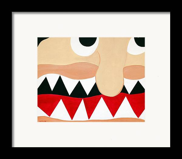 Funism Framed Print featuring the painting Big Smile by Sal Marino