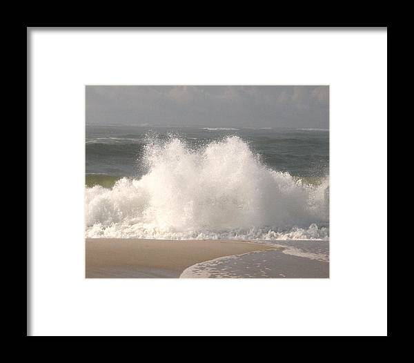 Nature Framed Print featuring the photograph Big Splash by Dennis Curry