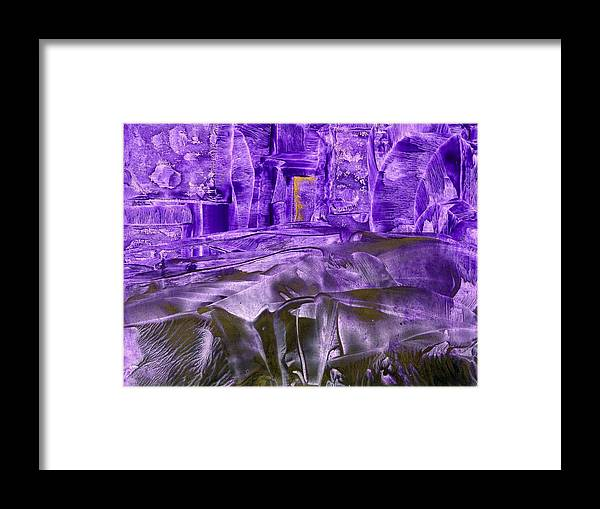 Encaustic Framed Print featuring the painting Big Steps by Heather Hennick