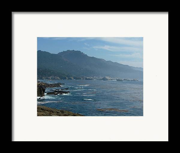 Seascape Framed Print featuring the photograph Big Sur by Donna Thomas