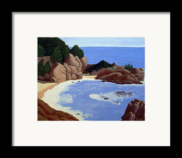 Landscape Art Framed Print featuring the painting Big Sur by Frederic Kohli