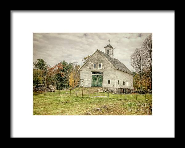 Old Barns Framed Print featuring the photograph Big White Barn by Diana Nault