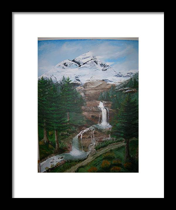 Landscape Framed Print featuring the painting Big White One by Jack Hampton