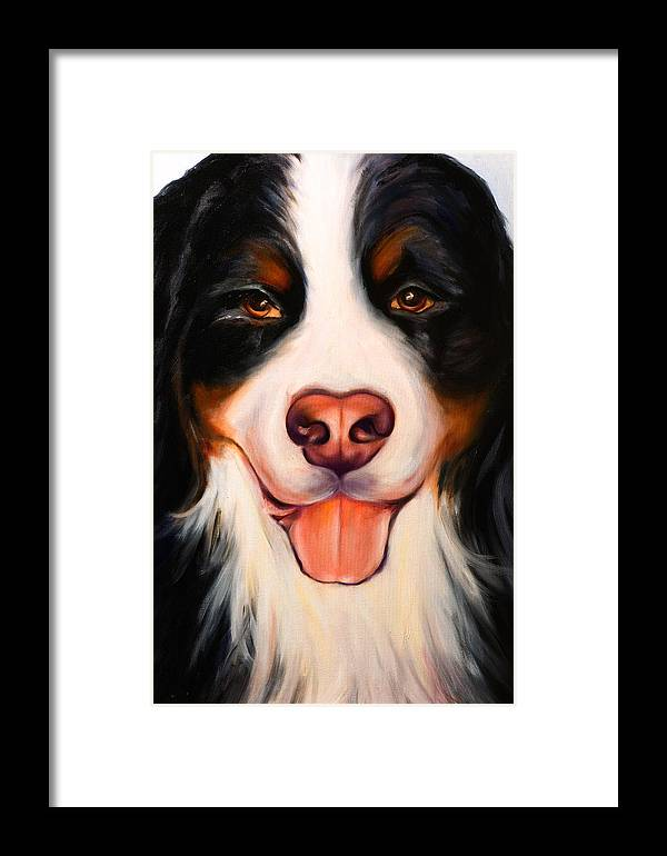 Dog Framed Print featuring the painting Big Willie by Shannon Grissom