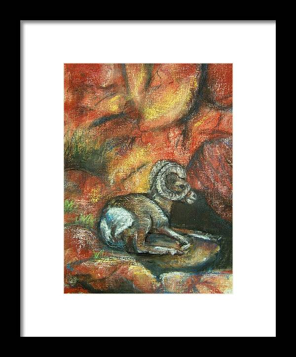 Wildlife Framed Print featuring the painting Bighorn by Darla Joy Johnson