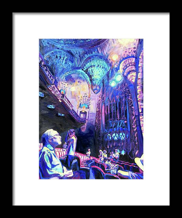 Theatre Framed Print featuring the painting Bijou by Bonnie Lambert