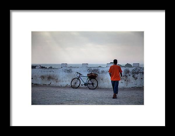 Bike Framed Print featuring the photograph Bike In Essaouira by Henri-Louis ROLAND