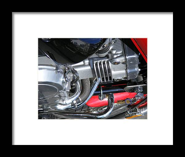 Bike Framed Print featuring the photograph Bike Parts 03 by Attila Jacob Ferenczi