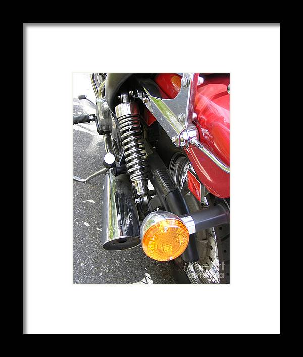 Bike Framed Print featuring the photograph Bike Parts 07 by Attila Jacob Ferenczi