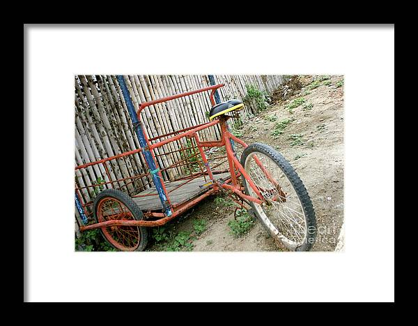 Bicycles Framed Print featuring the photograph Bike To The Beach by Alisha Robertson