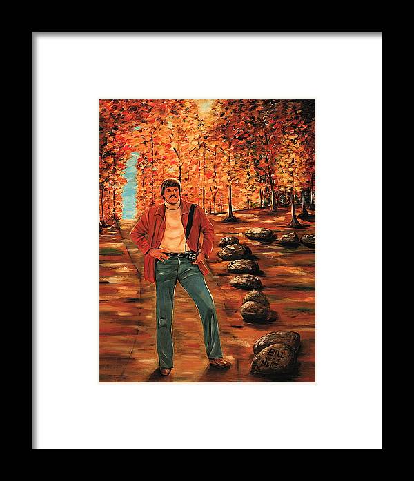 Portrait Framed Print featuring the painting Bill Bachmann Path Of A Photographer by Dyanne Parker