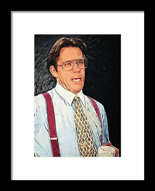 07fd16e638 Bill Lumbergh Framed Print featuring the digital art Bill Lumbergh - Office  Space by Zapista Zapista