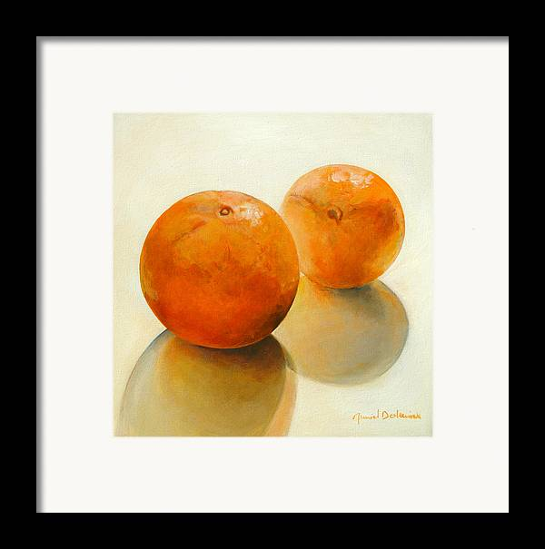 Still Life Framed Print featuring the painting Billes Oranges by Muriel Dolemieux