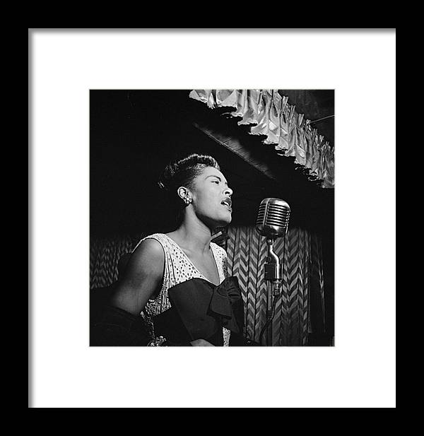 Billie Holiday William Gottlieb Photo New York City 1947 Framed Print featuring the photograph Billie Holiday William Gottlieb Photo New York City 1947 by David Lee Guss