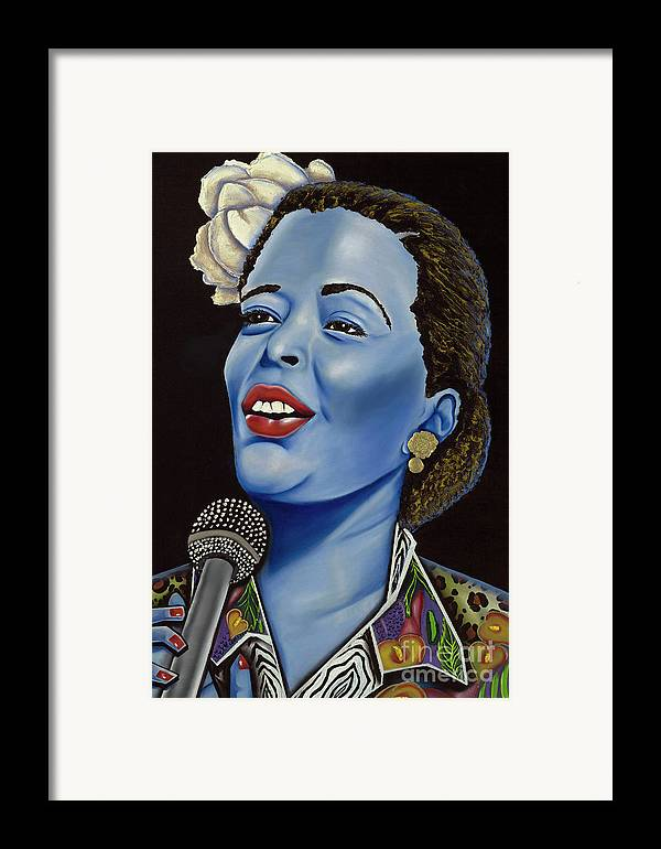 Portrait. Metallic Accessories Framed Print featuring the painting Billie by Nannette Harris