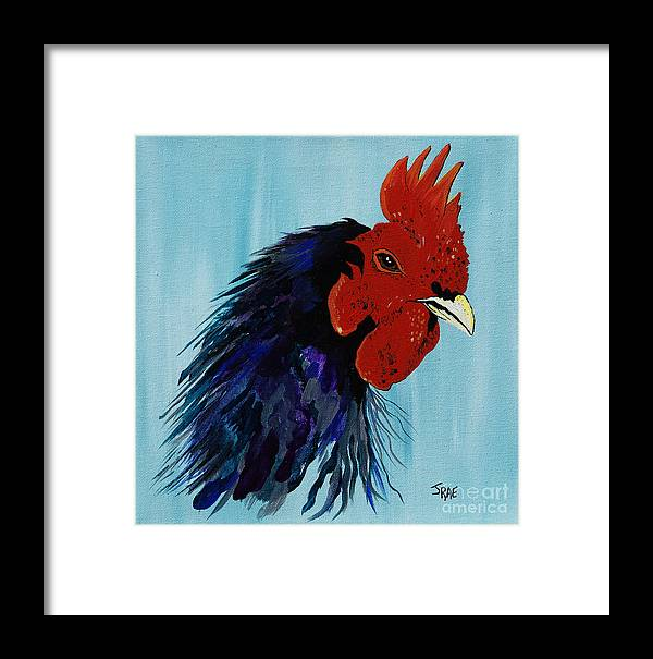 Cock Framed Print featuring the painting Billy Boy The Rooster by Janice Pariza