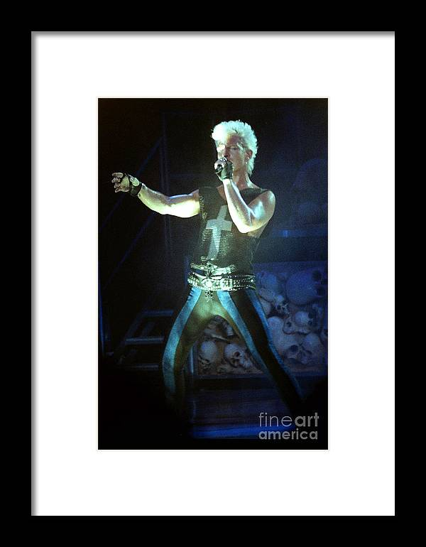 Billy Idol Framed Print featuring the photograph Billy Idol 90-2249 by Gary Gingrich Galleries