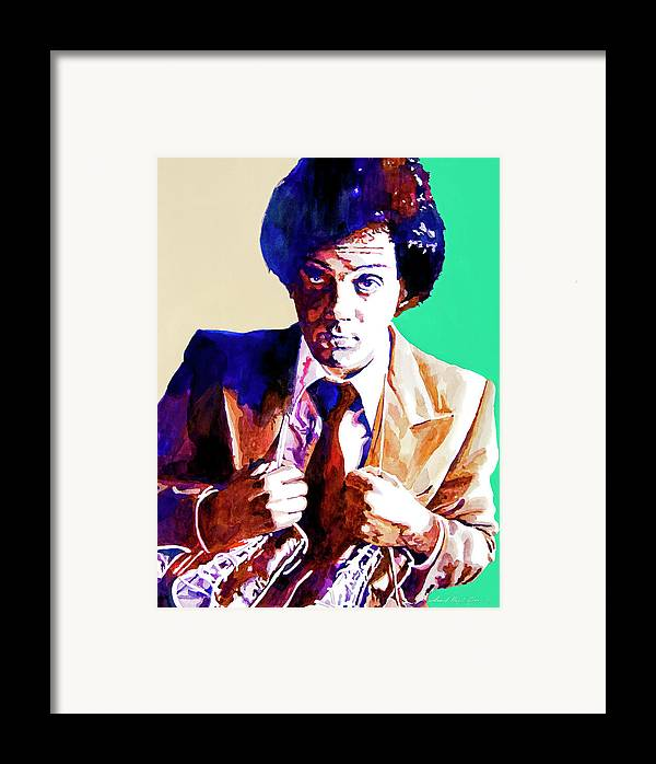 Billy Joel Framed Print featuring the painting Billy Joel - New York State Of Mind by David Lloyd Glover
