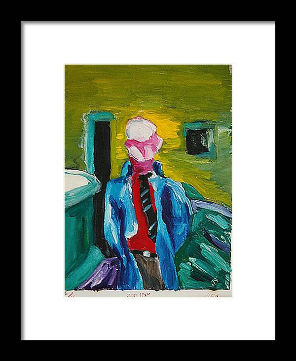 Any Framed Print featuring the painting Billy by John Toxey