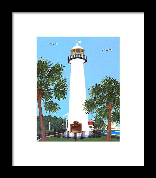 Lighthouse Paintings Framed Print featuring the painting Biloxi Lighthouse by Frederic Kohli