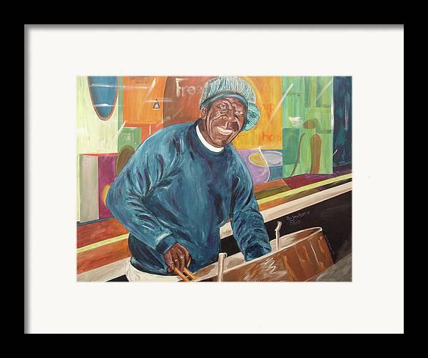 Kevin Callahan Framed Print featuring the painting Bing Bang Broadway Blues by Kevin Callahan