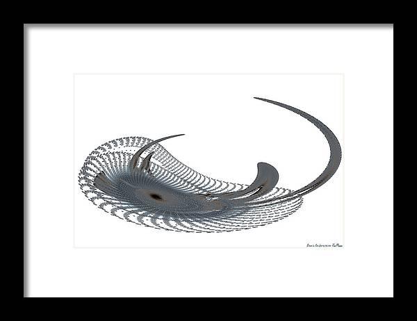 Bionic Framed Print featuring the digital art Bionic Cnidaria by Jim Plaxco