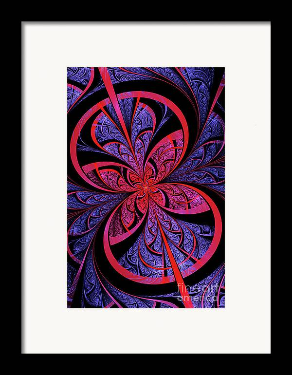 Flame Fractal Framed Print featuring the digital art Bipolar by John Edwards