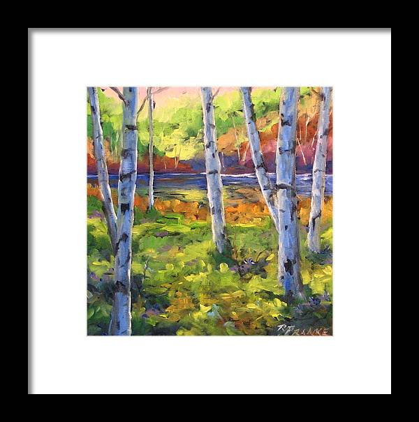 Art Framed Print featuring the painting Birches 01 by Richard T Pranke