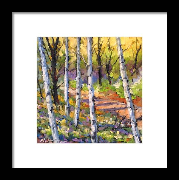 Art Framed Print featuring the painting Birches 02 by Richard T Pranke