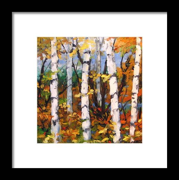 Art Framed Print featuring the painting Birches 03 by Richard T Pranke