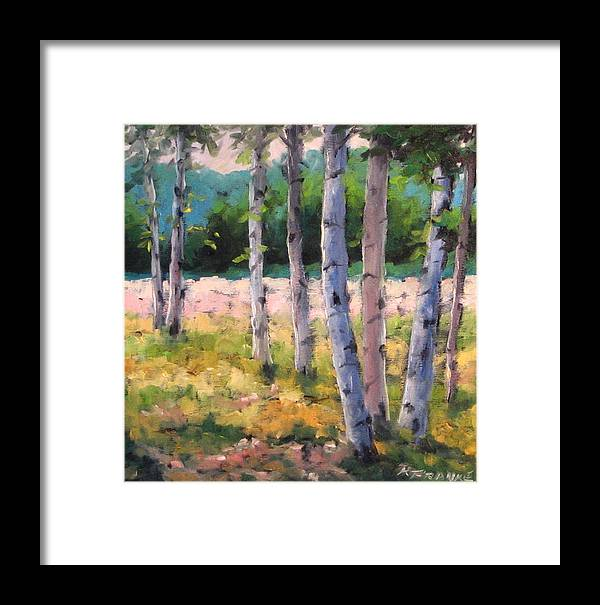 Art Framed Print featuring the painting Birches 04 by Richard T Pranke