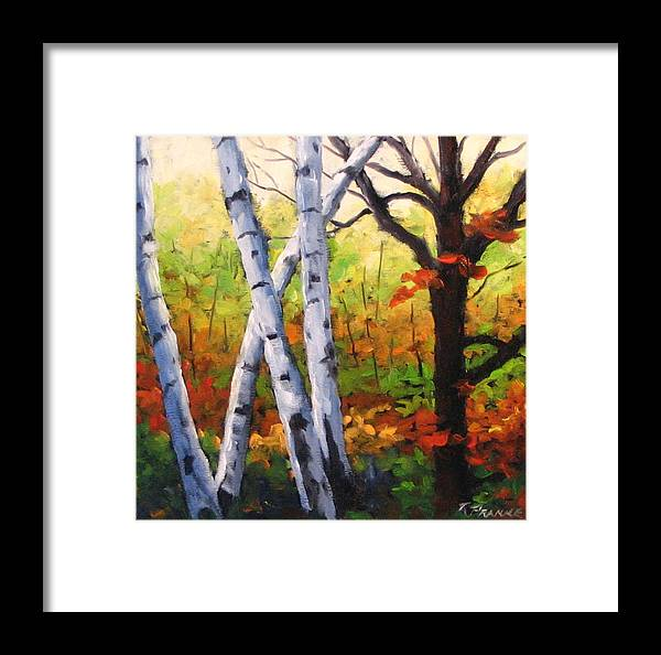 Art Framed Print featuring the painting Birches 05 by Richard T Pranke