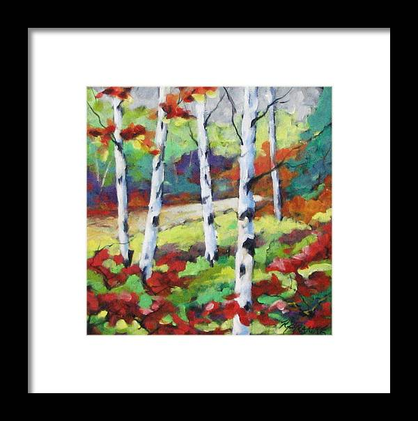 Art Framed Print featuring the painting Birches 07 by Richard T Pranke